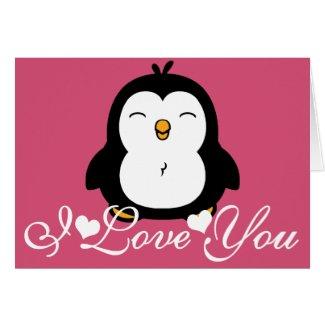 Cute Penguin I Love You Cards