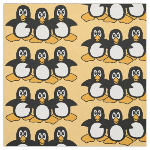 Cute Penguins Pattern Fabric