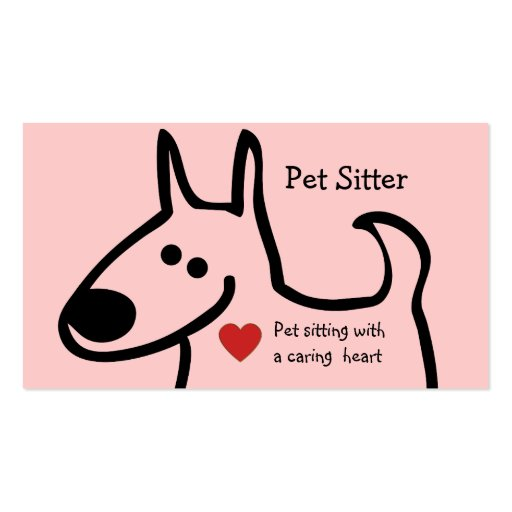 Cute Pet Sitter Business Cards   Zazzle