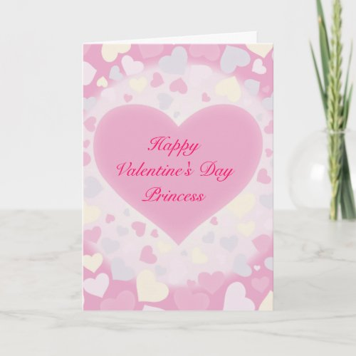 Cute Pink Valentine's Day Card