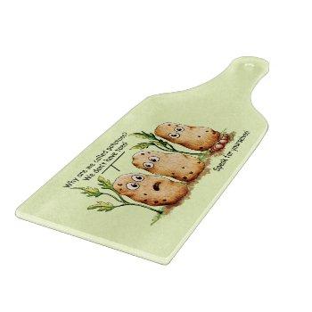 Cute Potatoes Toes Funny Potato Pun  Cutting Board