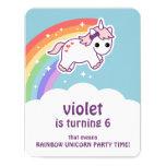 ❤️ Cute Rainbow Unicorn Birthday Party Invitations