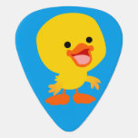 Cute Smiling Cartoon Duckling Guitar Pick