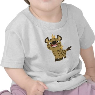 Cute Smiling Cartoon Hyena Baby T-Shirt