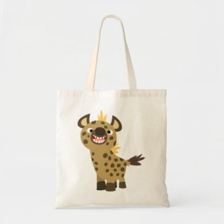 Cute Smiling Cartoon Hyena Bag