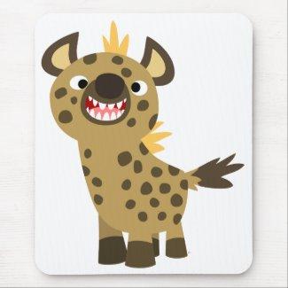 Cute Smiling Cartoon Hyena Mousepad
