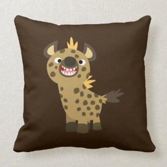 Cute Smiling Cartoon Hyena Pillow