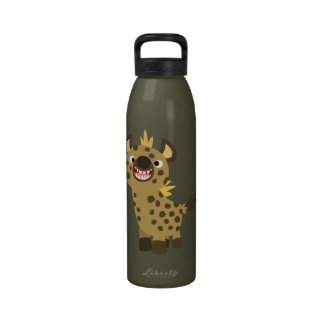 Cute Smiling Cartoon Hyena Water Bottle