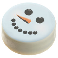 Cute Snowman Face Winter Holiday Snowmen Chocolate Covered Oreo