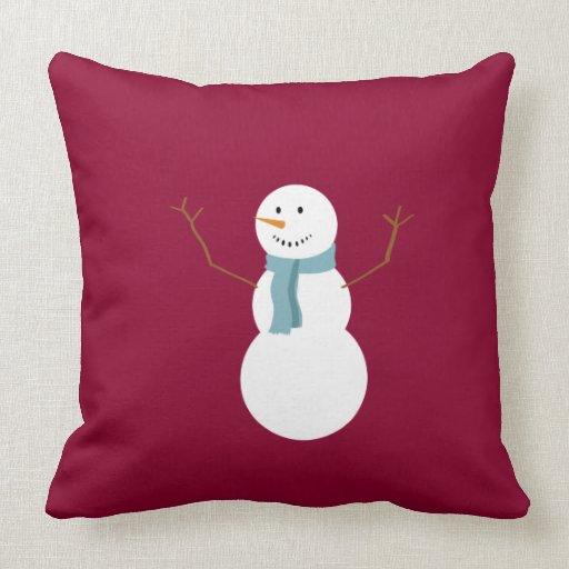 Cute Snowman Pillow Throw Pillow  Zazzle