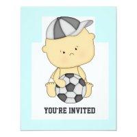 Cute Soccer Baby Shower Invitation | Zazzle