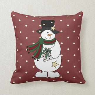 Snowman Pillows  Decorative  Throw Pillows  Zazzle