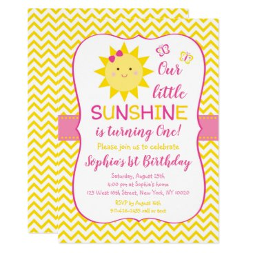 Cute Sunshine Birthday Invitation