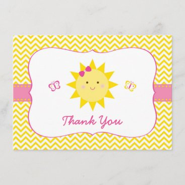 Cute Sunshine Birthday Thank You