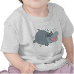 Cute Swimming Cartoon Hippo Baby T-Shirt