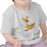 Cute Thumping Cartoon Kangaroo Baby T-Shirt