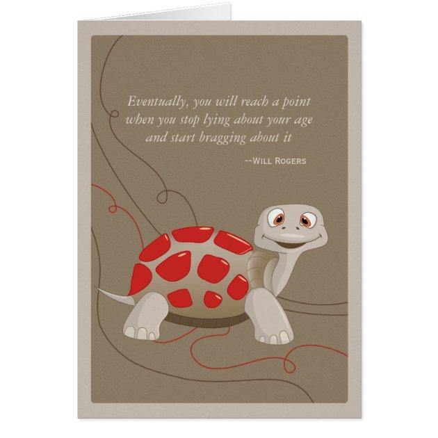 Cute Turtle Happy Birthday Card Zazzle Com