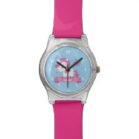 Cute Unicorn with Wings Kids Personalized Watch