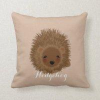 Cute Hedgehog Pillows - Decorative & Throw Pillows | Zazzle