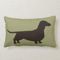 Dachshund Dog Silhouette Throw Pillow | Zazzle