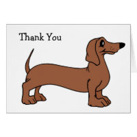 Dachshund Dog Thank You Cards