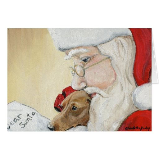 """dachshund request santa"" art"