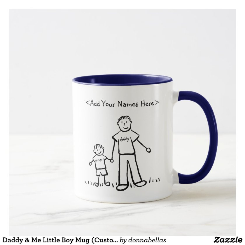 Daddy & Me Little Boy Mug (Custom Names)