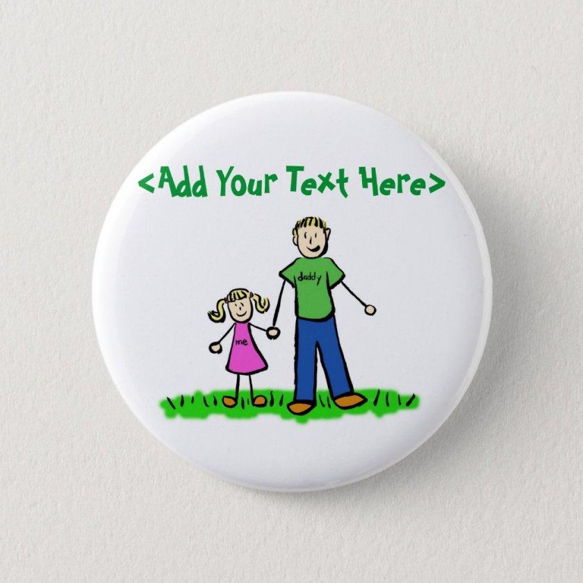 Daddy's Little Girl Button (Blond)