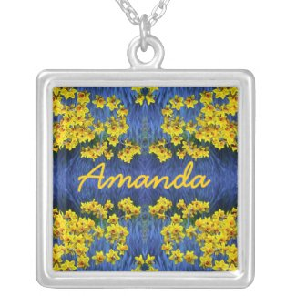 Daffodil Spring Name Pendant necklace