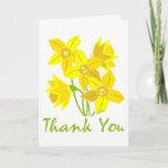 ❤️ Simple, Classic Pretty Daffodil Thank You Card