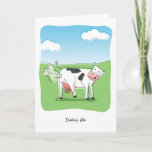 Funny Dairy Air Cow Fart Birthday Card