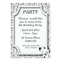 Dalmatian Birthday Party Invitation