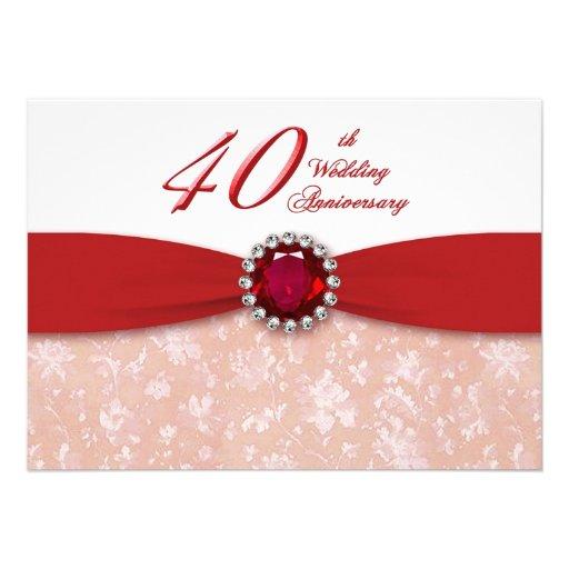 40th Wedding Anniversary Invitations 900 40th Wedding Anniversary Announcements  Invites