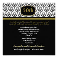 Damask Any Age Invitation