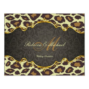 Damask  Leopard Wedding Invites