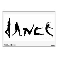 Dance Dancers Silhouettes Dancing Wall Decal | Zazzle