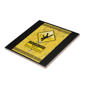 Dance Zone Ahead-Watch for Dancers Busting Moves! Ceramic Tile