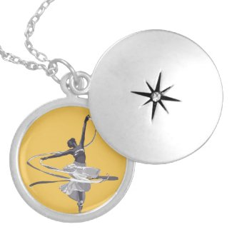 Dancer Round Locket Necklace