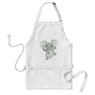 Dancing Cartoon Elephant Cooking Apron apron