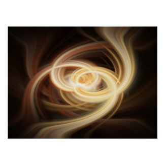 Dancing Flames Abstract Poster