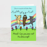 ❤️ Dancing Labradors at the Rainbow Bridge Card