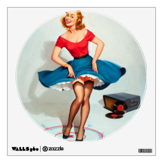 Pinup Girl Wall Decals & Wall Stickers