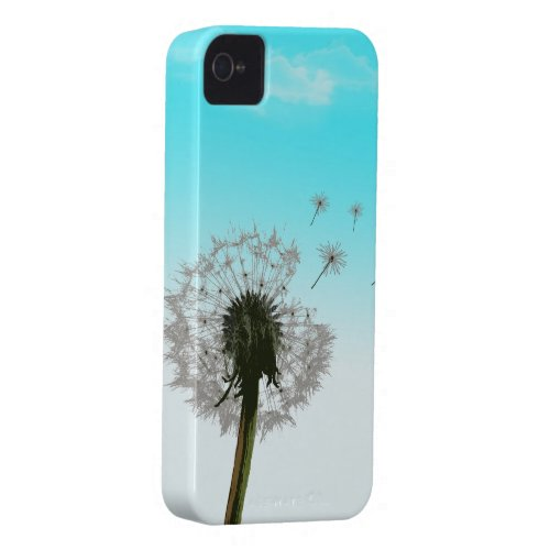 Dandelion blowing, seeds scattering iphone 4 case casemate_case