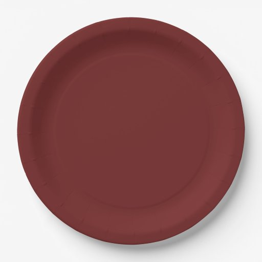 Dark Candy Apple Red (solid color) ~ Paper Plate