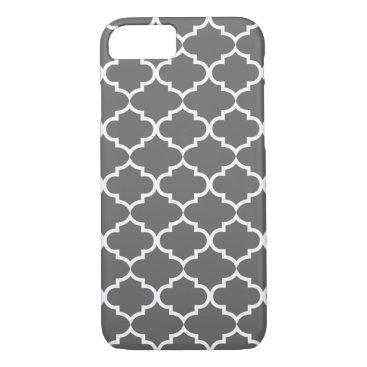 Dark Gray Quatrefoil Trendy iPhone 8/7 Case