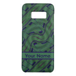 Dark Green Blue Abstract Shapes Pattern Case-Mate Samsung Galaxy S8 Case
