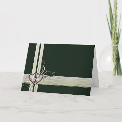 Dark Green Heart design Card