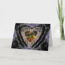 Dark Heart Valentine Romance Love Card