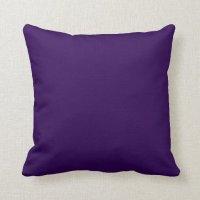 Dark purple background throw pillows | Zazzle