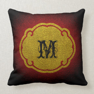 Red Leather Pillows  Decorative  Throw Pillows  Zazzle